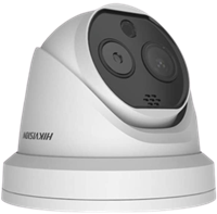 AI顔認識ドーム型サーモグラフィカメラ
